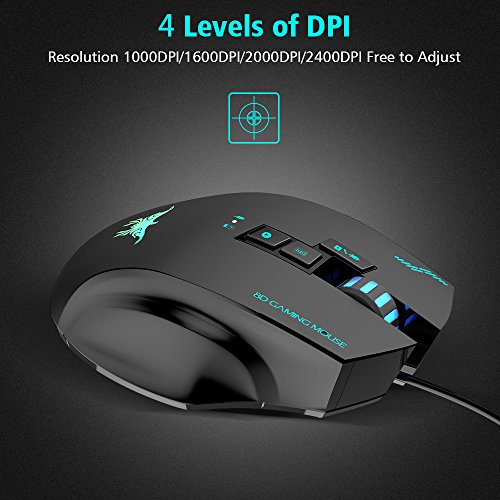 51E6gduSjrL - Wired-Wireless-Gaming-Mouse-VersionTech-W100-2400DPI-Rechargeable-Laser-Gaming-Mouse-with-3-Led-Lights-8-Buttons-4-Adjustable-DPI-Levels-for-PC-and-Mac