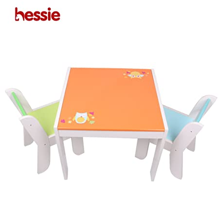 Hessie Little Toddler Kids Activity Play Table Chair Set