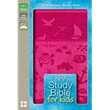 NIrV, Study Bible for Kids, Leathersoft, Pink