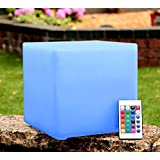 20cm Light Up Mood Cube LED Table Lamp - Event Party Decoration by PK Green