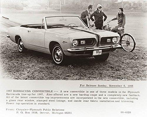 - 1967 Plymouth Barracuda Convertible Photo Poster