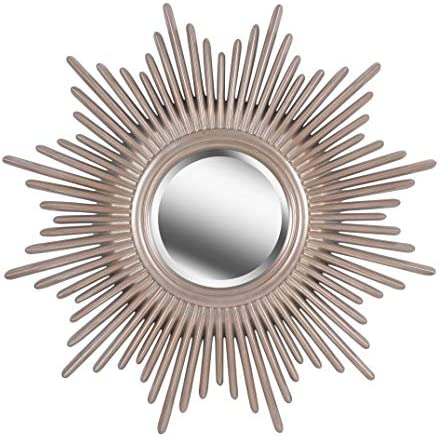 Kenroy Home Modern Wall Mirror 36 Inch Height 36 Inch Diameter 1 5 Inch Ext With Antique Silver Finish With Warm Highlights Home Kitchen
