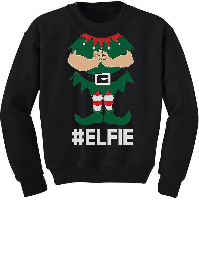 TeeStars - Elf Suit Funny Elfie Christmas Toddler/Kids Sweatshirts 4T Black GhPhrlhgf5Plf59ho