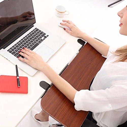 SKYZONAL Keyboard Mount Tray with Mouse Pad Under Desk Ergonomic Keyboard Wrist Rest Desk Extender for Small Desk