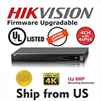 4 CH NVR 4 x POE 4K 8MP DS-7604NI-K1/4P UL LISTED Hikvision OEM