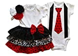 Boy Girl Twin Outfits Scarlett and Scott by Perfect Pairz USA Made Outfit