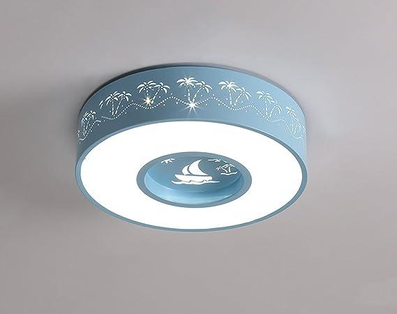 Plafoniere Blu : Zhdc plafoniere rotonde camera per bambini illuminazione a