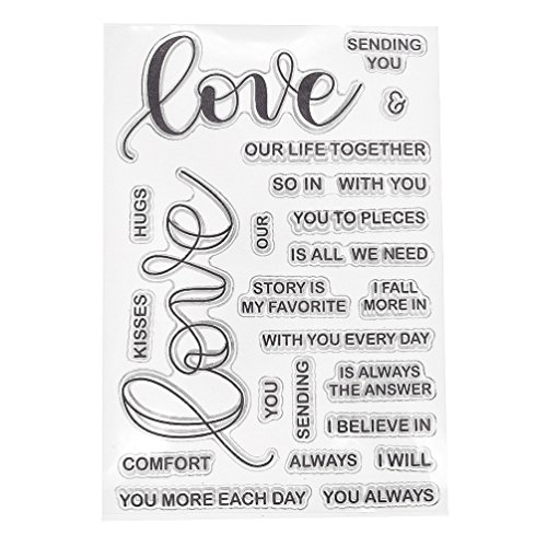 Greeting Sentence Silicone Clear Stamp DIY Scrapbooking Journal Planner Decor