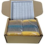 Yobett 166 Values 1/4w Resistors pack 1660pcs 0 - 22M DIP metal film full Range Resistors Assortment kits