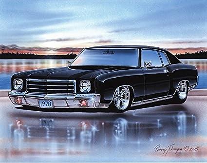 Amazon Com 1970 Chevy Monte Carlo Ss 454 Muscle Car Art Print Black