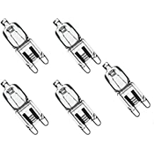 Triangle Bulbs T10077-5 (5 pack) - Q40/G9/CL/120V, 40 Watt, T4 JD Type, 120 Volt, Clear, G9 Bi-pin Base, Halogen Light Bulb, 5 Pack