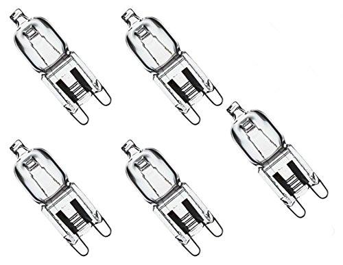 Triangle Bulbs T10077-5 (5 pack) - Q40/G9/CL/120V, 40 Watt, T4 JD Type, 120 Volt, Clear, G9 Bi-pin Base, Halogen Light Bulb, 5 - Type T4