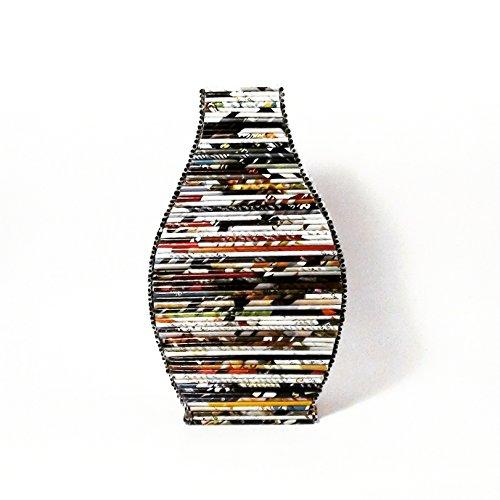 Upcycled Eco Friendly Newspaper & Wood Vase