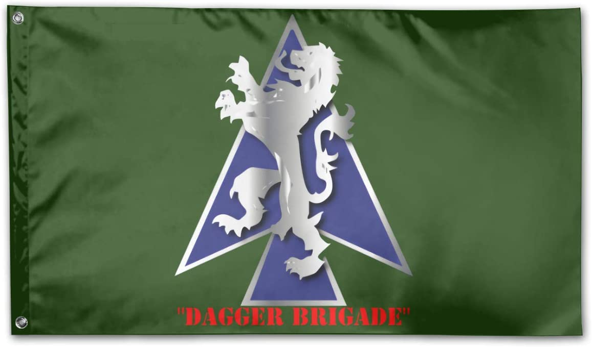 2nd BDE Combat Tm Dagger Brigade 1st ID V1 Garden Flags 3 X 5 in Indoor&Outdoor Decorative Home Fall Flags Holiday Decor