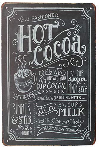 - Sumik Hot Cocoa, Metal Tin Sign, Vintage Art Poster Plaque Kitchen Home Wall Decor