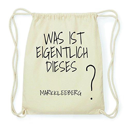 JOllify MARKKLEEBERG Hipster Turnbeutel Tasche Rucksack aus Baumwolle - Farbe: natur Design: Was ist eigentlich