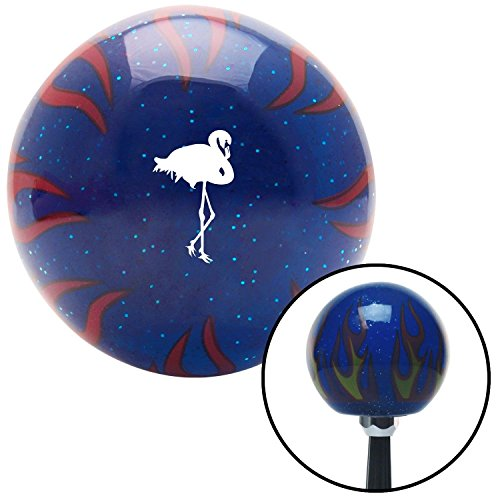 White Flamingo Blue Flame Metal Flake with M16 x 1.5 Insert American Shifter 297638 Shift Knob
