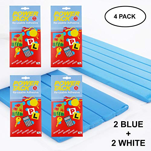 Poster Putty Blu Tack Adhesive - Tak Thumb Blue Tacky Hanging Blu-Tack Sticky Poster Wall Textured Ceiling Cement Strips Decorative Painting Concrete Adhesive Today's Deal Placement White VIZIONSTAR ()