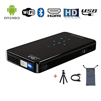 Proyector de películas portátil, WiFi inalámbrico Mini Pocket DLP ...