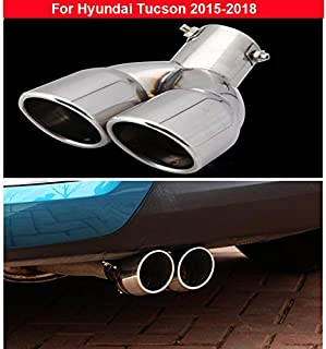 1Pcs New Stainless Dual Outlets Exhaust Muffler Tip End Pipe Tailpipe For