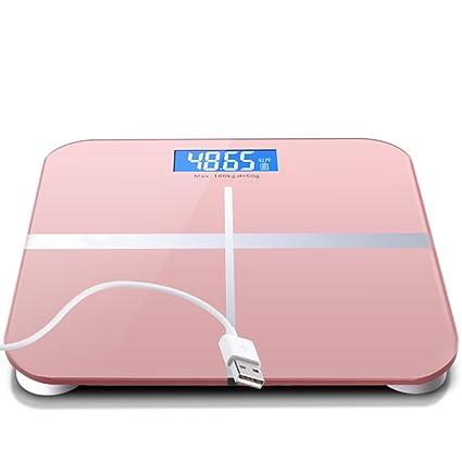 GUOYUN Pink USB Escalas electrónicas precisas Escalas de la salud Escala del cuerpo Moderno simple interior