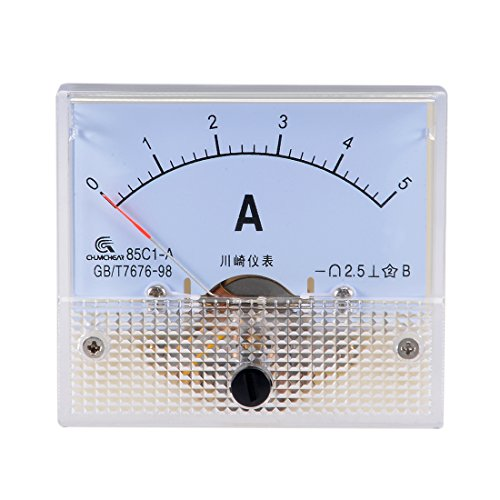 uxcell 85C1-A Analog Current Panel Meter DC 5A Ammeter for Circuit Testing Ampere Tester Gauge 1 PCS