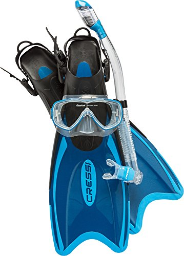 Cressi Palau LAF Set, blue, L/XL (Long Diving Flippers)