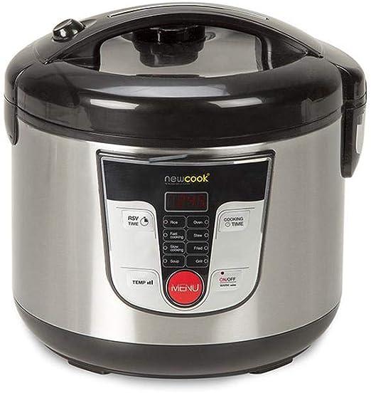 Top Shop - Robot de cocina New Cook Silver, capacidad 5 litros, cocina hasta 5 porciones, 700 W: Amazon.es: Hogar