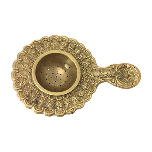 Tea Strainer By Madison Bay, Brass, Ornate Victorian Style