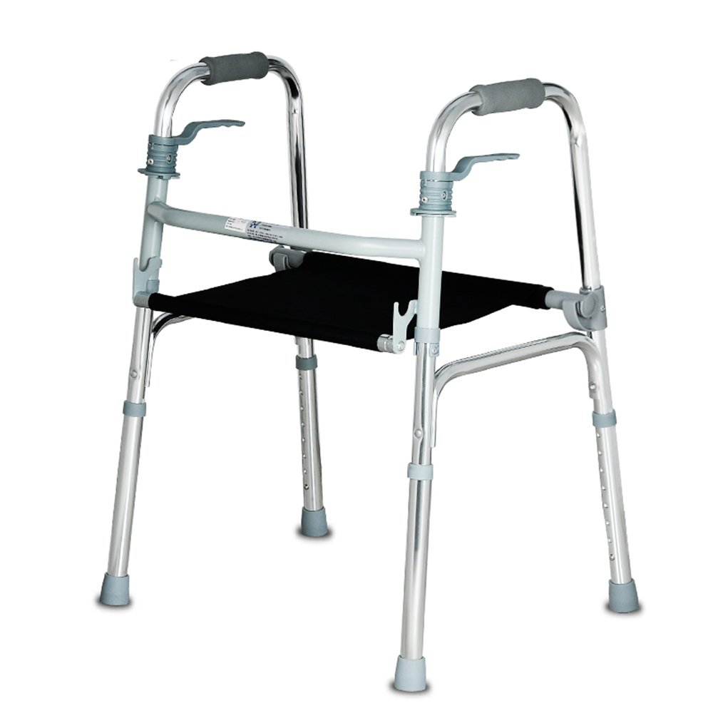QFFL クルーザー高齢者4フィートの松葉杖折りたたみ式シート(ノンスリップ松葉杖付き)53 * 45cm 松葉杖ウォーカー B07B4W9HZ7