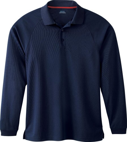 Extreme Mens Long Sleeve Eperformance Piqué Polo (85099) -CLASSIC NAVY -L
