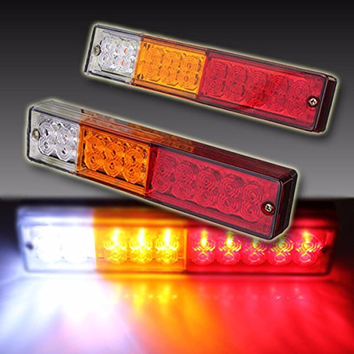 Ambother 2x 20 Led Car Truck Led Trailer Tail Lights Turn
