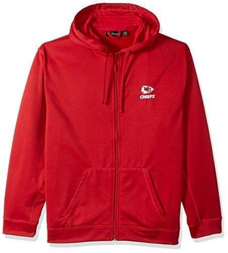 NFL Kansas City Chiefs adult Trophy Polyester Tech Fleece Full Zip Hoodie Small Red [並行輸入品]   B07K1RW4S4