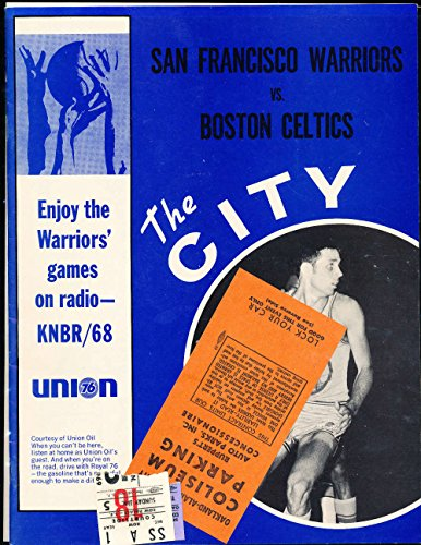 (1969 S. F. Warriors vs Bill Russell Boston Celtics Basketball Program NM amp; 2 tickets)