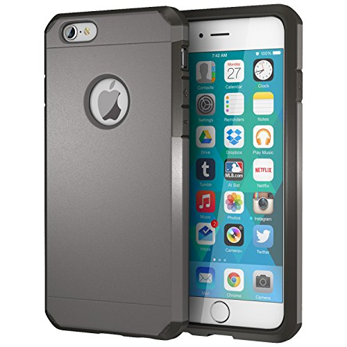iPhone 6 / 6s Case, ImpactStrong Heavy Duty Dual Layer Extreme Protection Cover Heavy Duty Case for Apple iPhone 6 / 6s (Gun Metal)