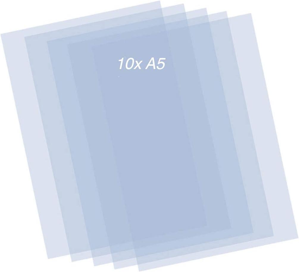Mylar Sheets - 10pcs Plastic Stencil Sheets - 0.2mm transparant A5 Sheets - DIY Stencil-Art Sheet Suitable for DIY Stencil Cutting
