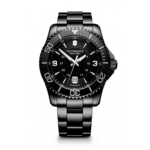 Victorinox Swiss Army 241798 Maverick Men's Watch Black 43mm Stainless Steel