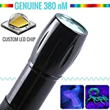 WNOPA UV Flashlight Black Light Real 380 nm Wavelength Car AC Leak Detector Dog Cat Urine Pet Stains Scorpions Bed Bug Reveal