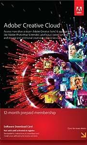 Adobe Creative Cloud Membership 12 Month Pre-Paid Membership Product Key Card [Old Version]