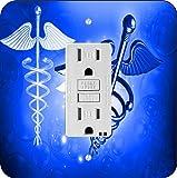 Rikki Knight 8865 Blue Medical Doctor Symbol Design Light Switch Plate