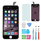HXSZ LCD Touch Screen Digitizer Frame Assembly Full Set LCD Touch Screen Replacement for iPhone 6(Black)
