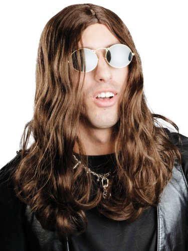 Enigma Wigs Men's Ozzi, Brown, One Size (Ozzy Osbourne Wig)