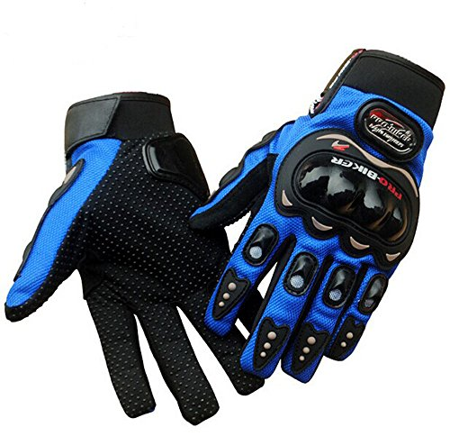 Motorcycle Bike Racing Full Finger Gloves 3 Colors Protective Motocross Gloves Size M /L /Xl/xxl (BLUE, L)