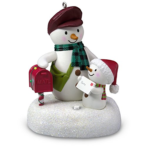 (Hallmark Keepsake Christmas Ornament 2018 Year Dated, Special Delivery Snowmen With Music)