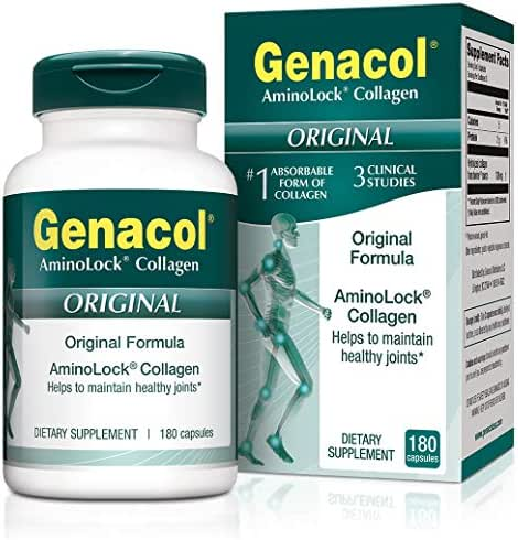 GENACOL Original Joint Supplements for Men & Women (180 Capsules) |Hydrolyzed Collagen Peptides for Healthy Joints, Cartilage, Bones, Tendon and Ligaments