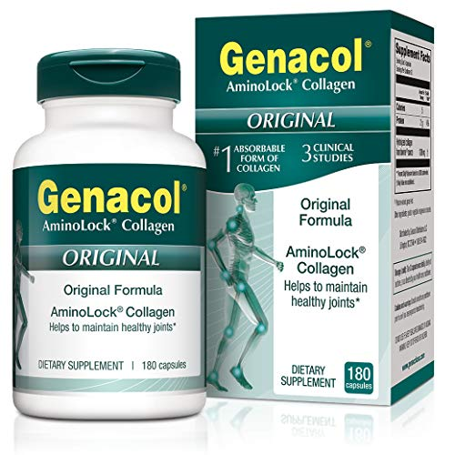 GENACOL Original Joint Supplements for Men & Women (180 Capsules) |Hydrolyzed Collagen Peptides for Healthy Joints, Cartilage, Bones, Tendon and Ligaments (Best Foods For Joints And Tendons)