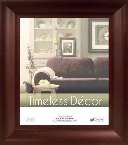 Cherry Timeless Glass - Timeless Expressions TF78017 Marren Wall Frame, 8 x 10, Cherry