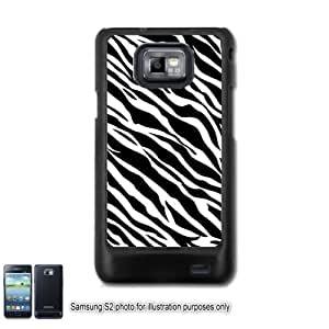 Black White Zebra Animal Print Pattern Samsung Galaxy S2 I9100 Case Cover Skin Black (FITS AT&T AND STRAIGHT TALK MODELS ONLY)