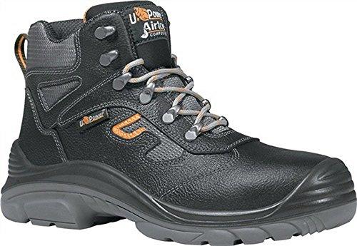 Zapatillas de seguridad (Puntera S3Src Premiere Talla 43piel lisa negro plástico tapa