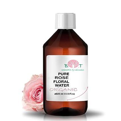 Agua Floral Puro Ecológico Hidrolato de Rosa ORGÁNICO Piel Sensible / Piel Madura 500 ml